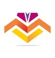 element letter m arrow symbol icon vector image