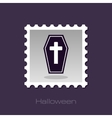 Halloween Coffin stamp vector image