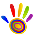 Hand painted with vivid colors vector image