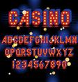 light bulb alphabet vector image