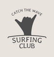 surfing club logo symbol or icon design template vector image