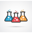 Three flasks color icon vector image