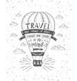 travel of air balloon vector image