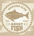 vintage fishing banner design - hunting club vector image