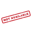 Not Available Rubber Stamp vector image
