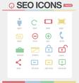 SEO Google like icons set volume 1 Set 2 vector image vector image