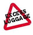 Excess Luggage rubber stamp vector image vector image
