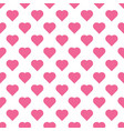 beautiful seamless pattern with pink hearts vector image