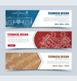 templates banners red blue and brown with vector image