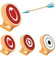 Target Set vector image vector image