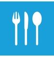 Table utensil icon white vector image