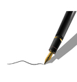 luxurious pen vector image vector image