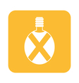 Camping flask icon vector image