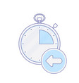 alarm arrow clock hour minute time timer icon vector image