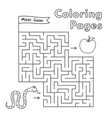 cartoon snake maze game vector image