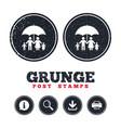 complete family insurance icon umbrella symbol vector image