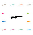 isolated fowling piece icon shotgun vector image