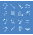 Stomatology dental line icons vector image