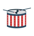 drum usa instrument isolated vector image