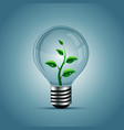 Light bulb with plant inside vector image