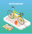 bicycle city navigation concept poster in vector image
