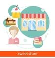 Sweet Store vector image