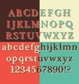 Retro Brown Chocolate Font vector image