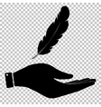Feather sign Flat style icon vector image