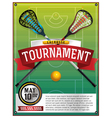 Lacrosse Tournament Flyer vector image vector image