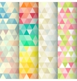 Abstract geometric triangle seamless patterns set vector image