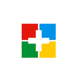 Cross medic colorful sign logo vector image