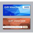 Design gift vouchers polygonal vector image