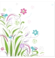 Floral background with butterfly vector image