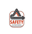 icon of road safety station vector image
