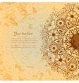 Vintage invitation card on grunge background vector image