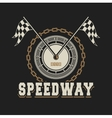 speedway racing badge vector image