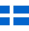 Flag of Shetland vector image
