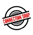 Connection Drop rubber stamp vector image