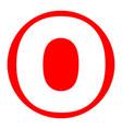 letter o sign design template element vector image