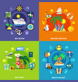 vacation travel design concept vector image