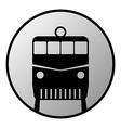 Train button vector image