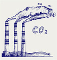 Co2 cloud vector image
