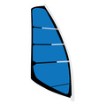 Windsurf sail vector image