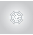 wheel icon vector image