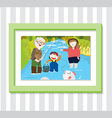 Family Play2 Photo vector image