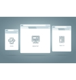 Browser Windows Responsive Web vector image