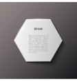 Paper hexagon white banner vector image