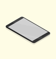 black tablet isometric vector image