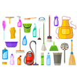 cleaning supplies vector image