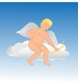 Cute angel on a cloud vector image